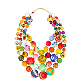 Kantha Orb Necklace, India