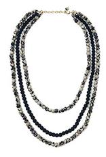 Kantha Indigo Layered Necklace
