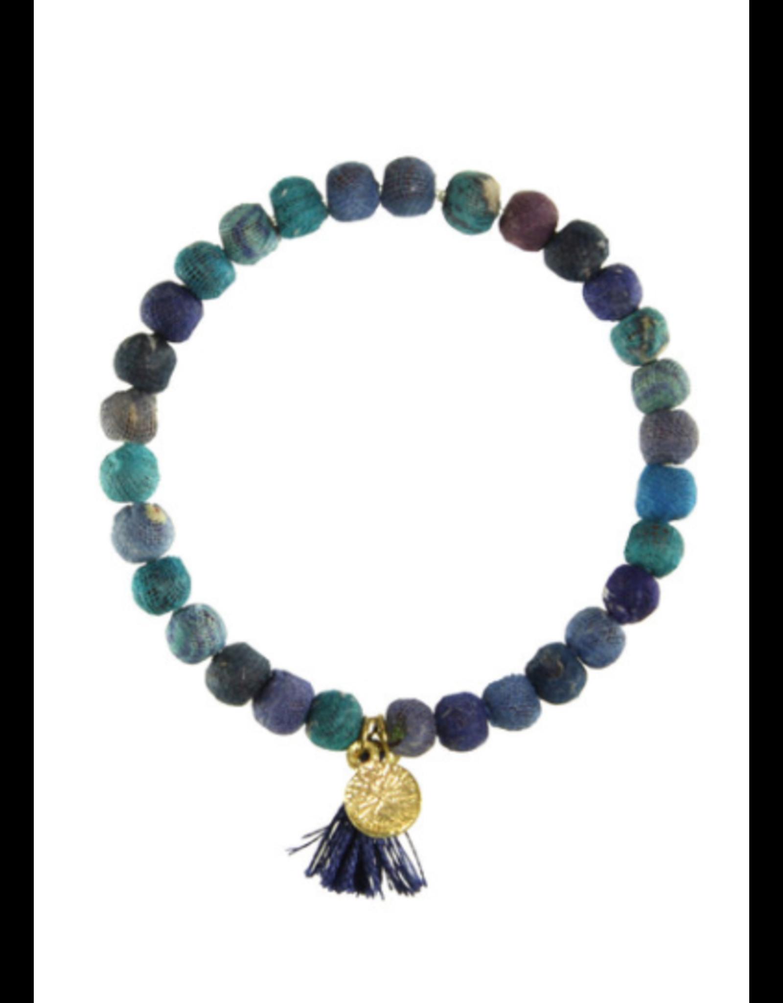 Kantha Connection Bracelet, Serenity