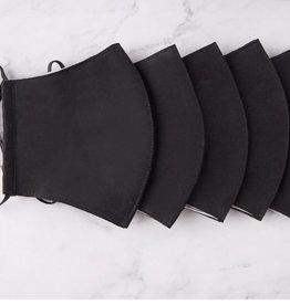 100% cotton black mask w/ filter pocket