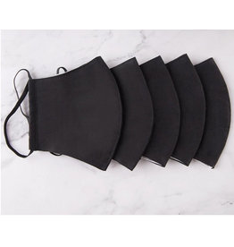 100% Cotton Black Mask w/ Filter Pocket, Thailand