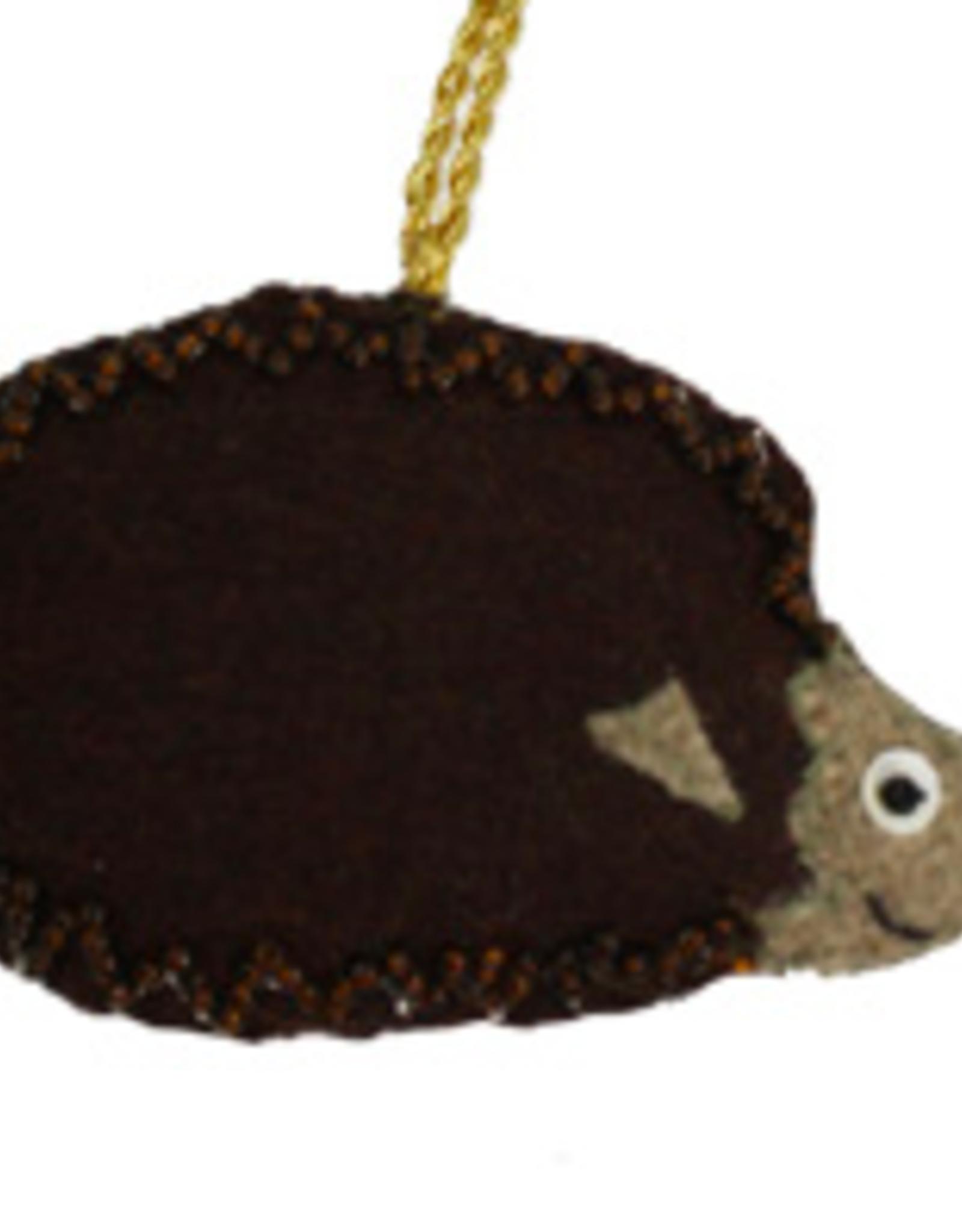 Felted Hedgehog Ornament