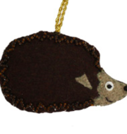 Felted Hedgehog Ornament