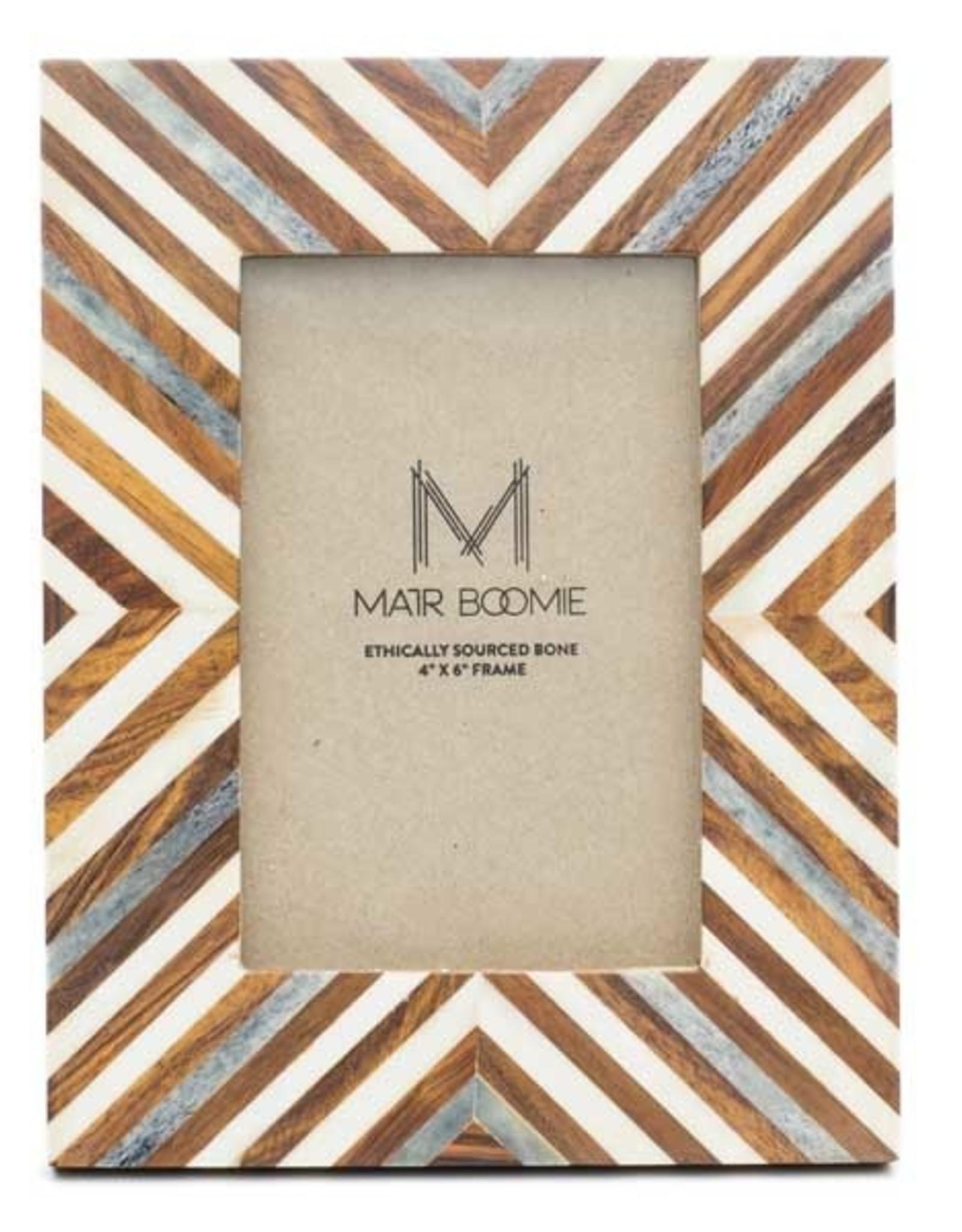 Banka Mundi Frame - 4x6 Brown and White