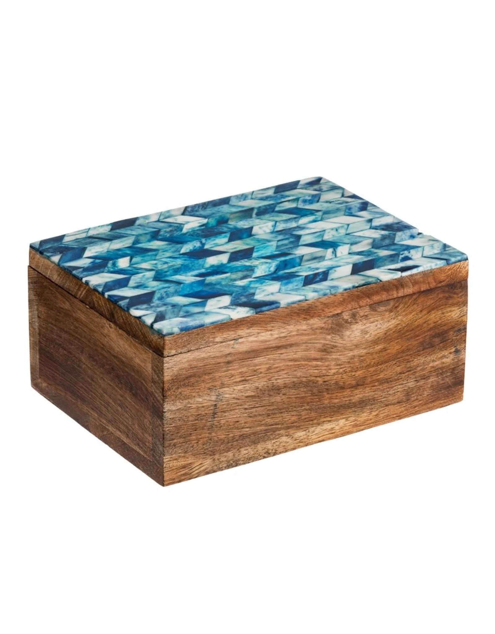 Artemis Blue Bone Treasure Box