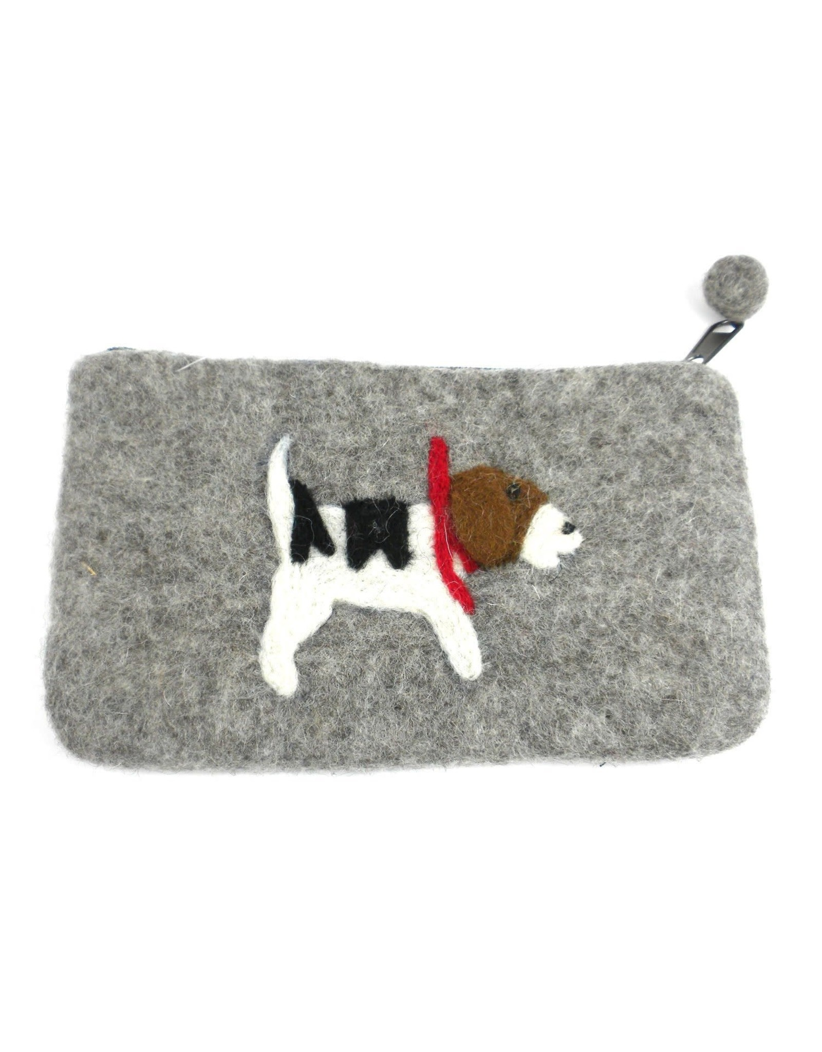 Jack Russell Felted Coin Purse