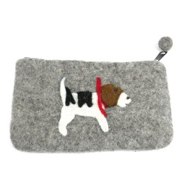 Jack Russell Felted Coin Purse, Nepal