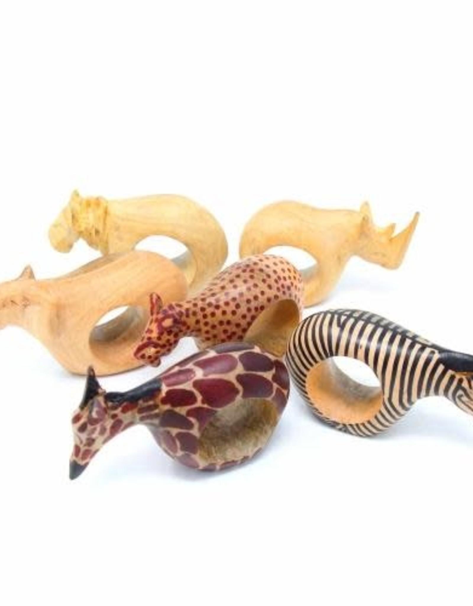 Animal Napkin Rings, Set of 6