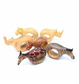 Animal Napkin Rings, Set of 6