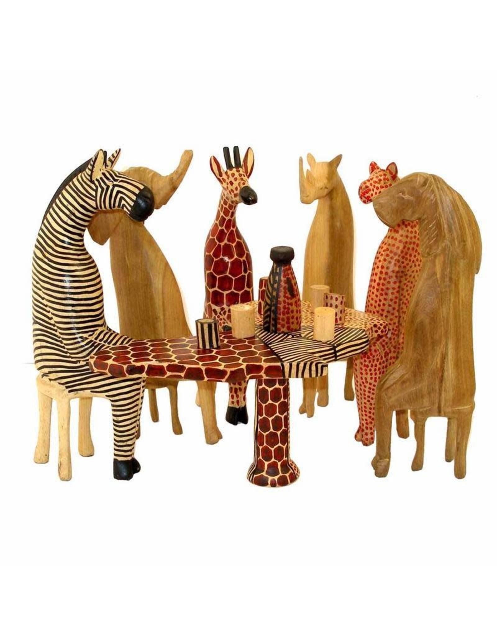 Party Animals Wood Carvings