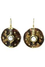 Howlite and Brass Earrings