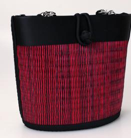 Cambodia, Petite Curved Avi Basket Bag Crimson