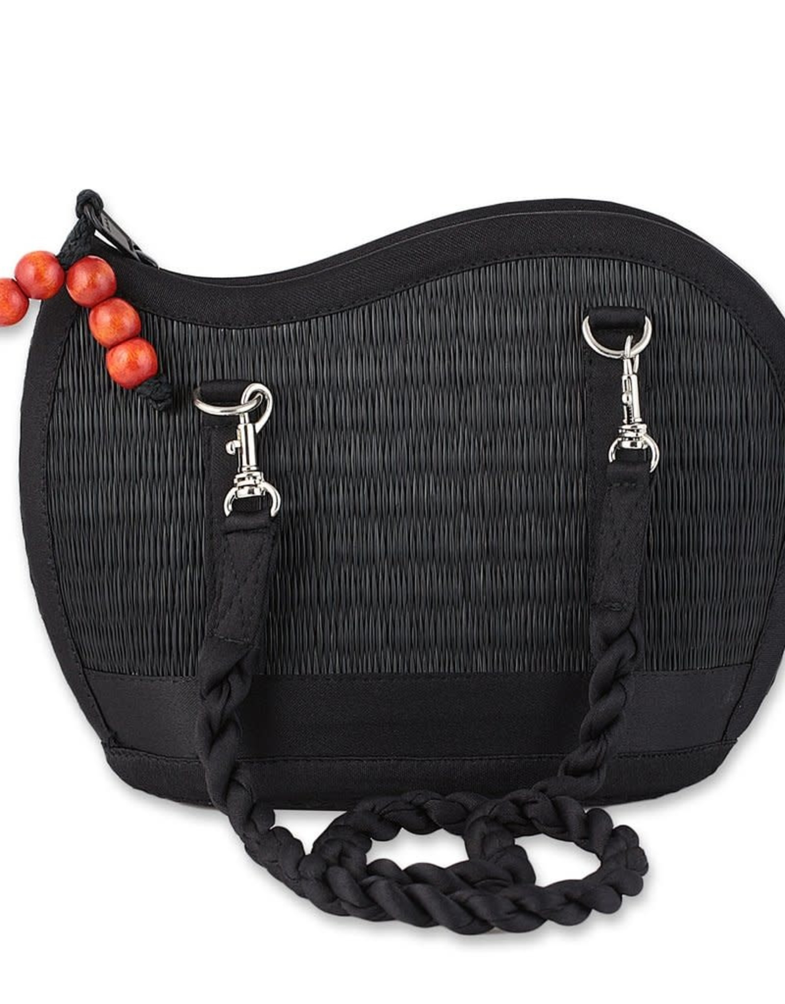 Cambodia, Kiri Wave Purse Black Burleywood
