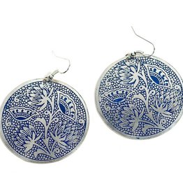 Padma Earrings, Blue