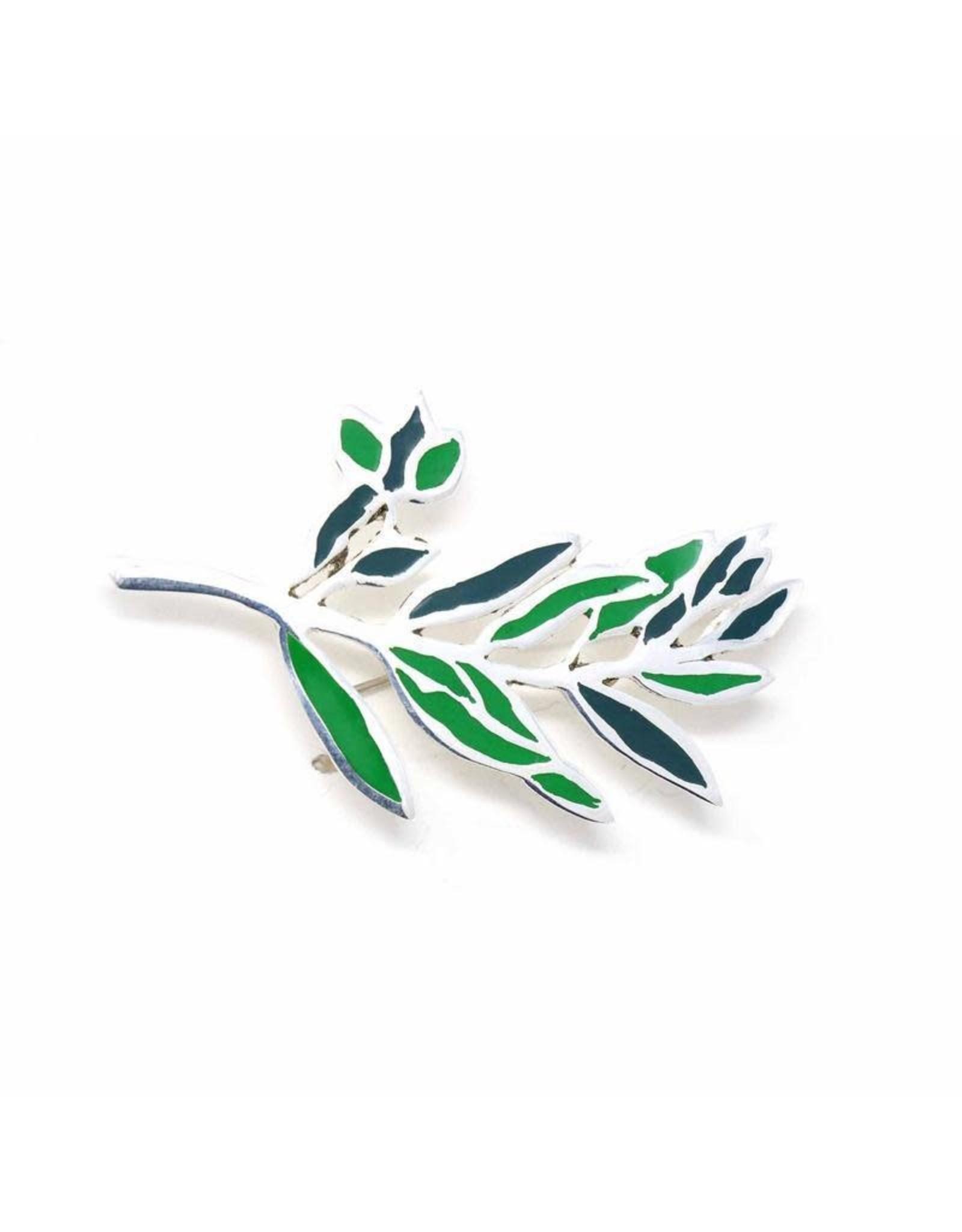 Silver Plated Branch Brooch