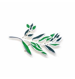 Silver Plated Branch Brooch