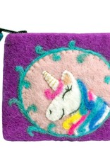 Unicorn Felted Coin Purse