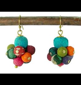 Kantha Drop Earrings, India