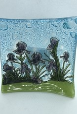 Ecuador, Handblown Small Glass Plate Iris
