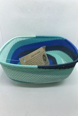 Telephone Wire Square Bowl,  African Ocean/SHADES OF BLUE