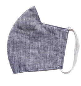 Linen Mask w/ Filter Pocket, Earth or Gray