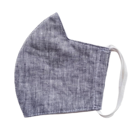 Linen Mask w/ Filter Pocket,  Gray