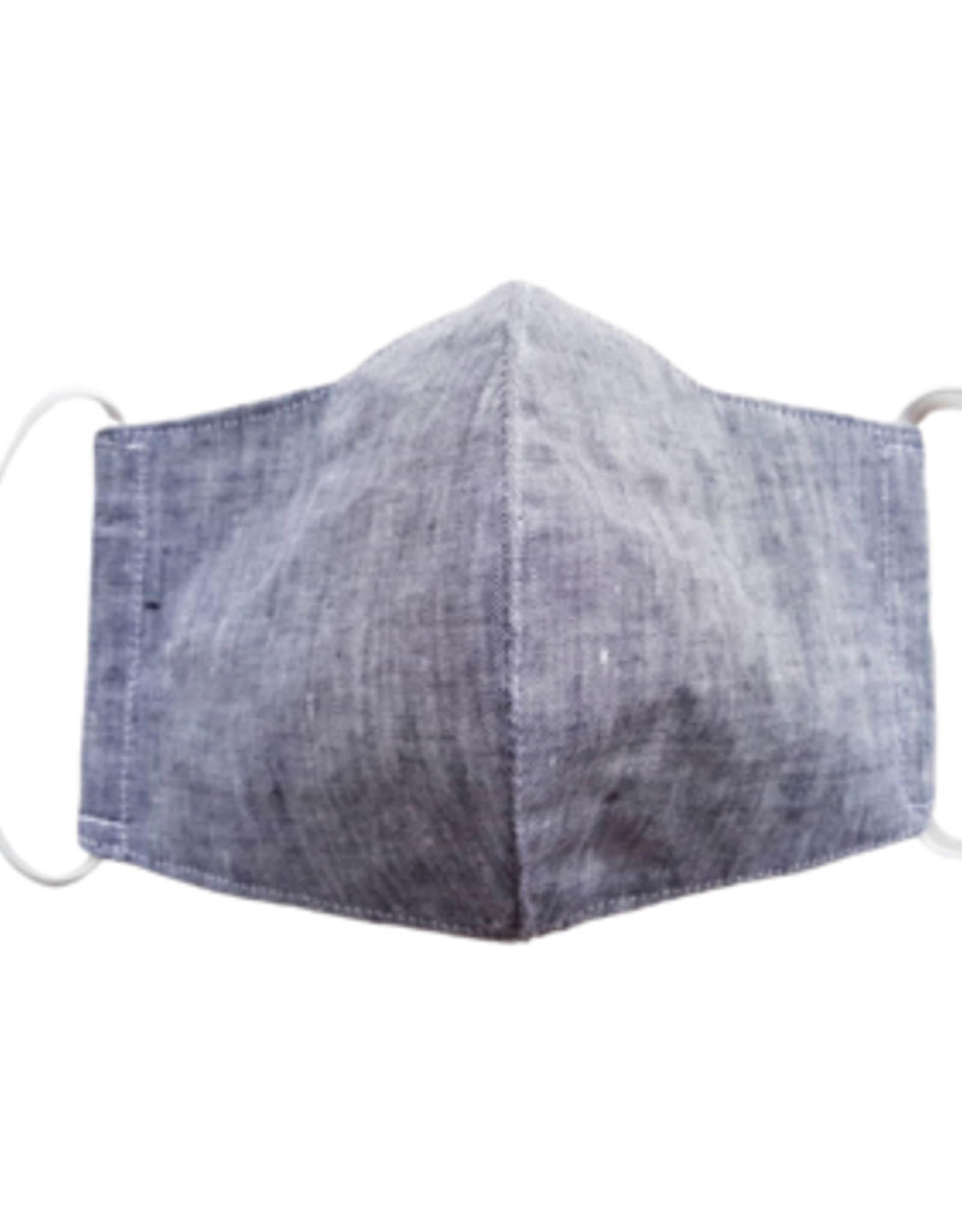Linen Mask w/ Filter Pocket,  Gray