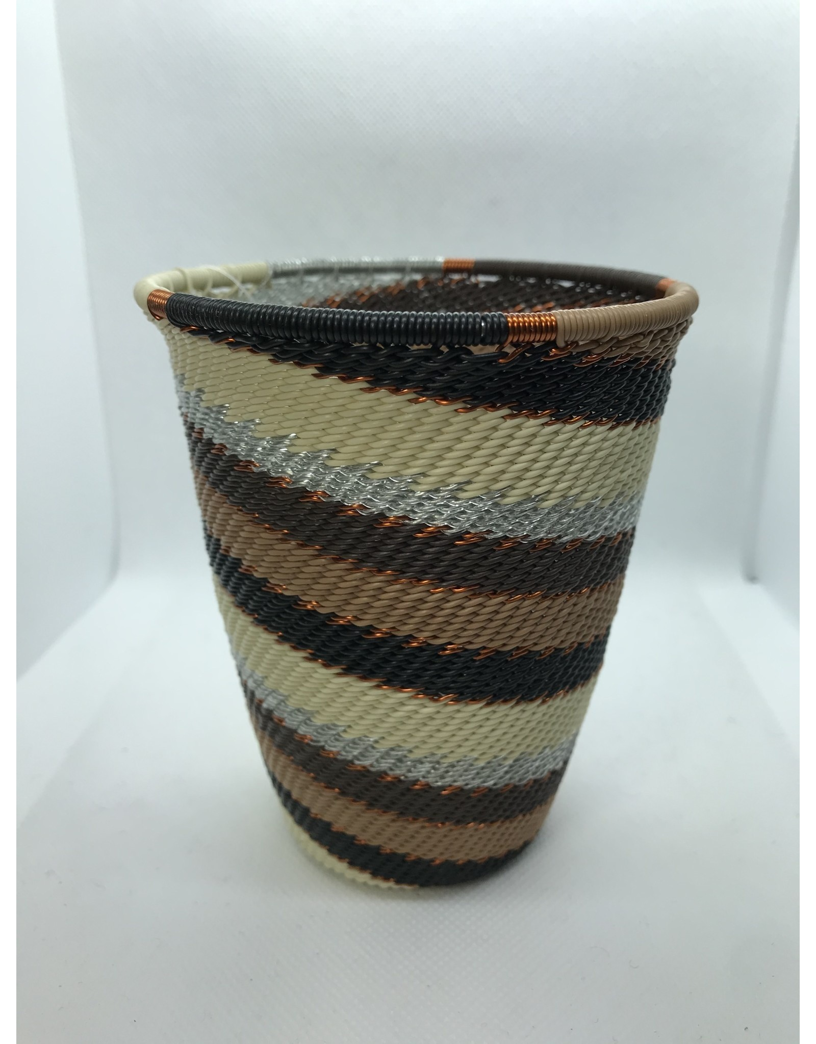 Telephone Wire Pencil Cup, Mocha, South Africa