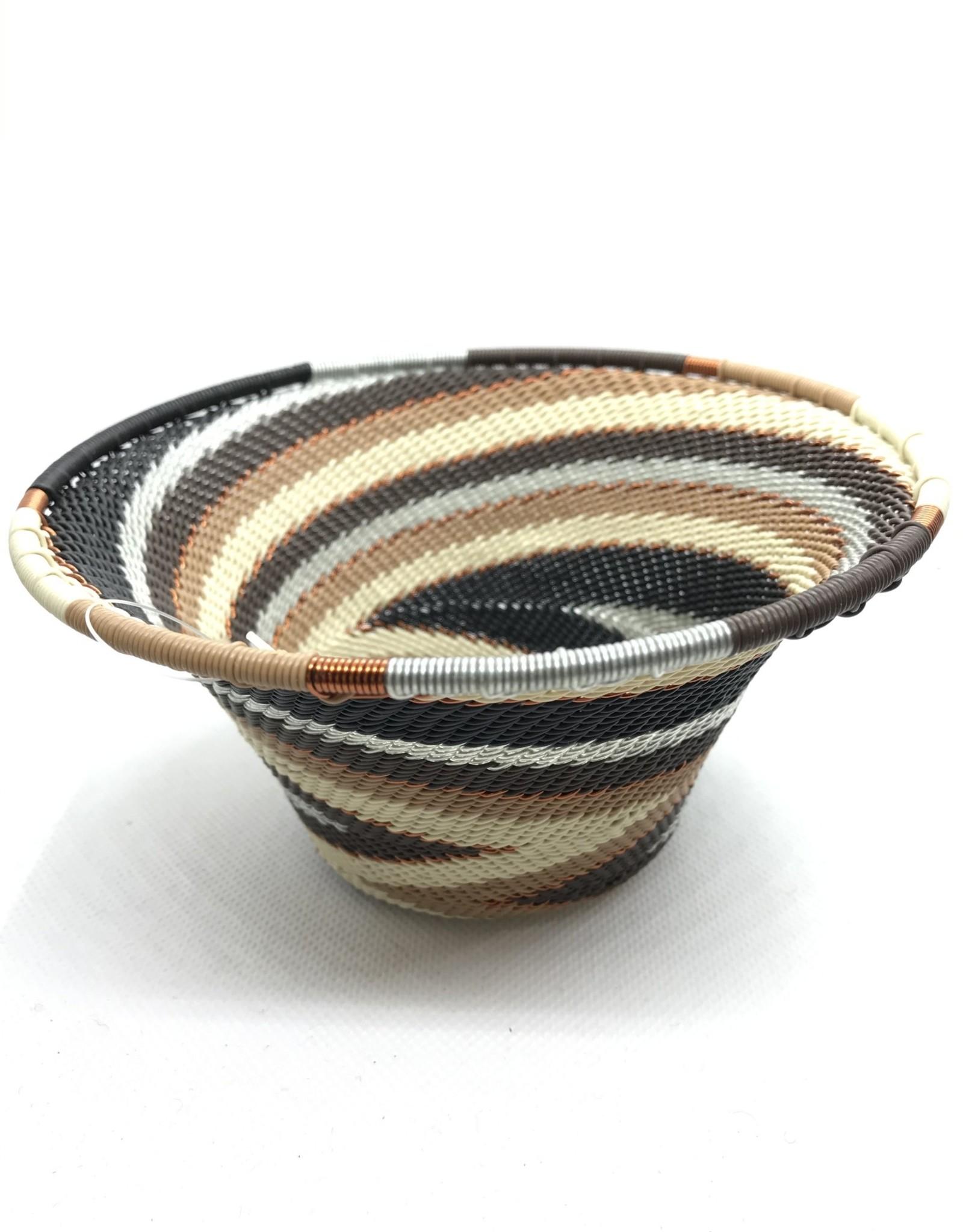 Telephone Wire Cone Bowl  Mocha