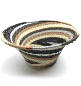 South Africa, Telephone Wire Cone Bowl  Mocha