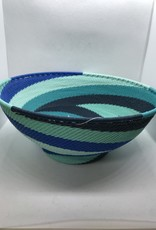 South Africa, Large Round Bowl w/ Base African Ocean