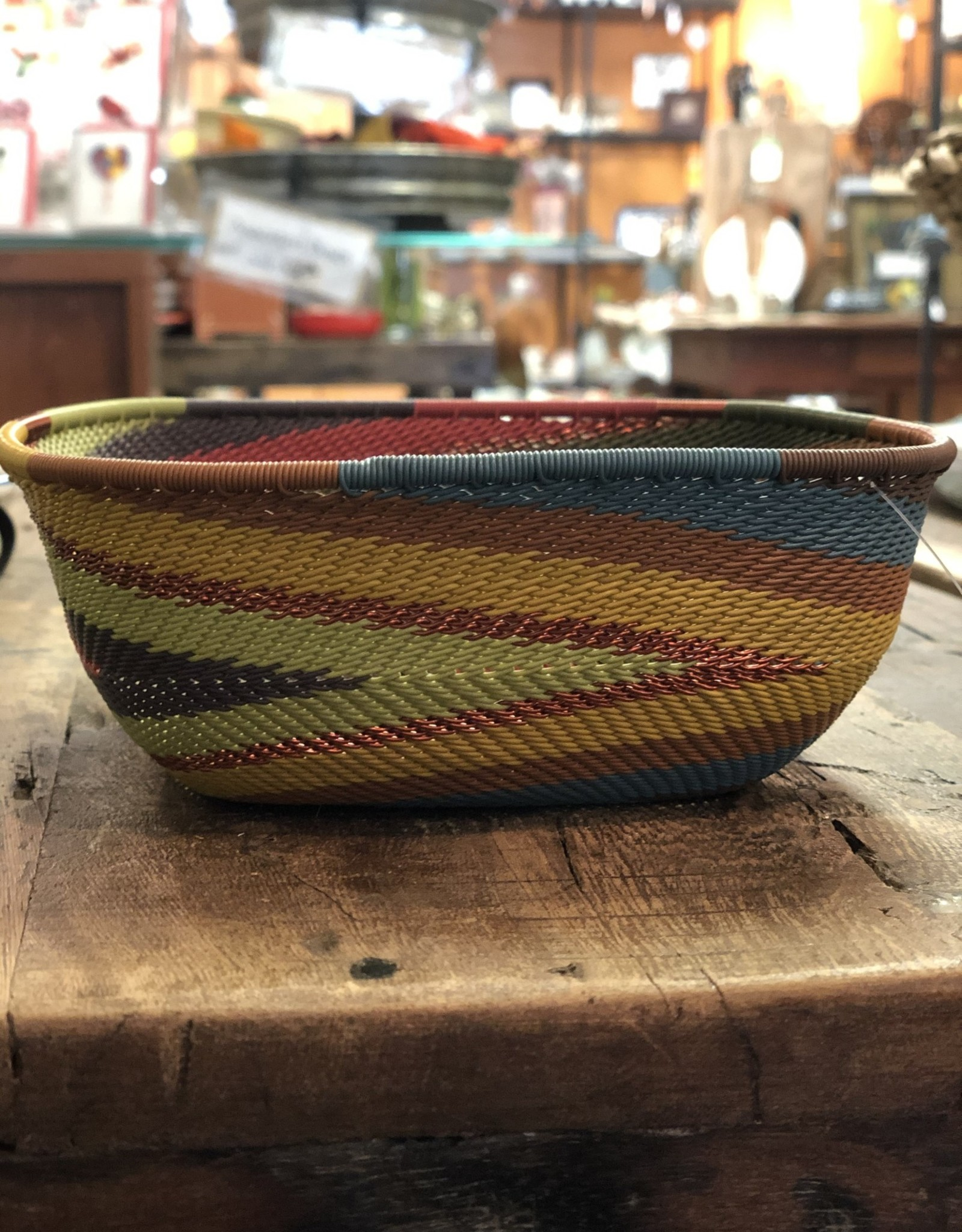 Telephone Wire Square Bowl, Painted Desert