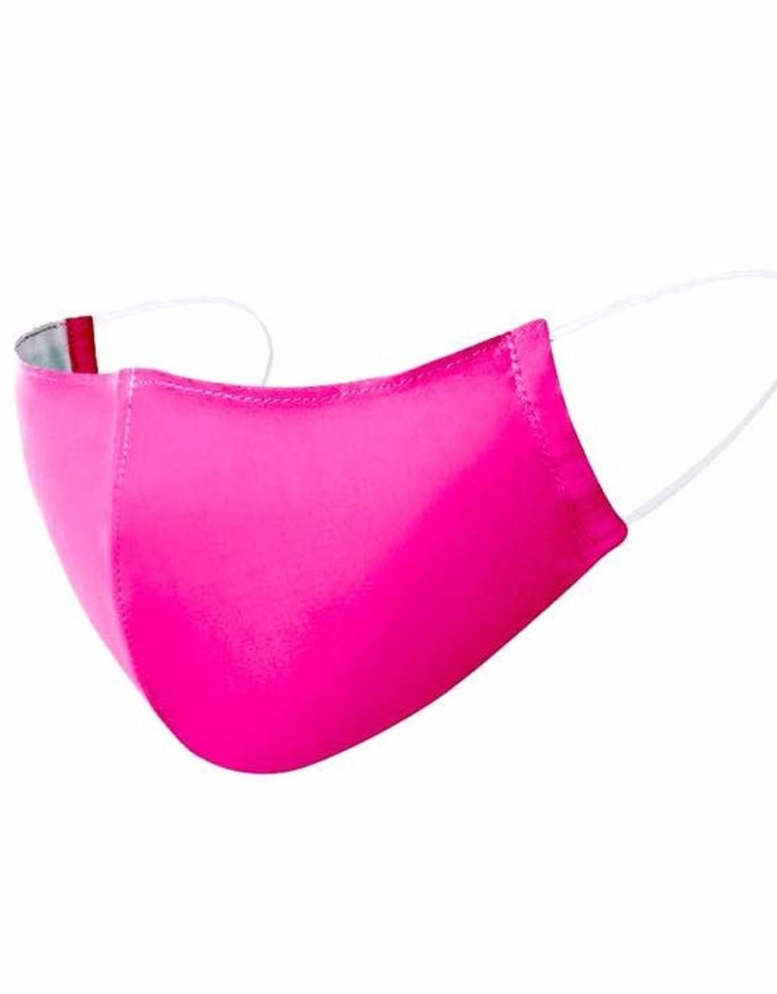 Cotton Mask, Pink w/ Filter Pocket, 5-8 years old