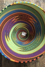 """South Africa, 11.5"""" telephone wire multi color bowl"""