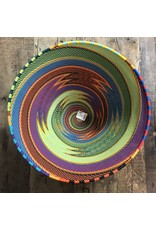 "South Africa, 11.5"" telephone wire multi color bowl"