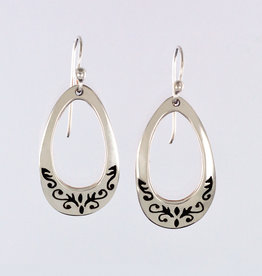 Small Sterling Silver Drop Earrings