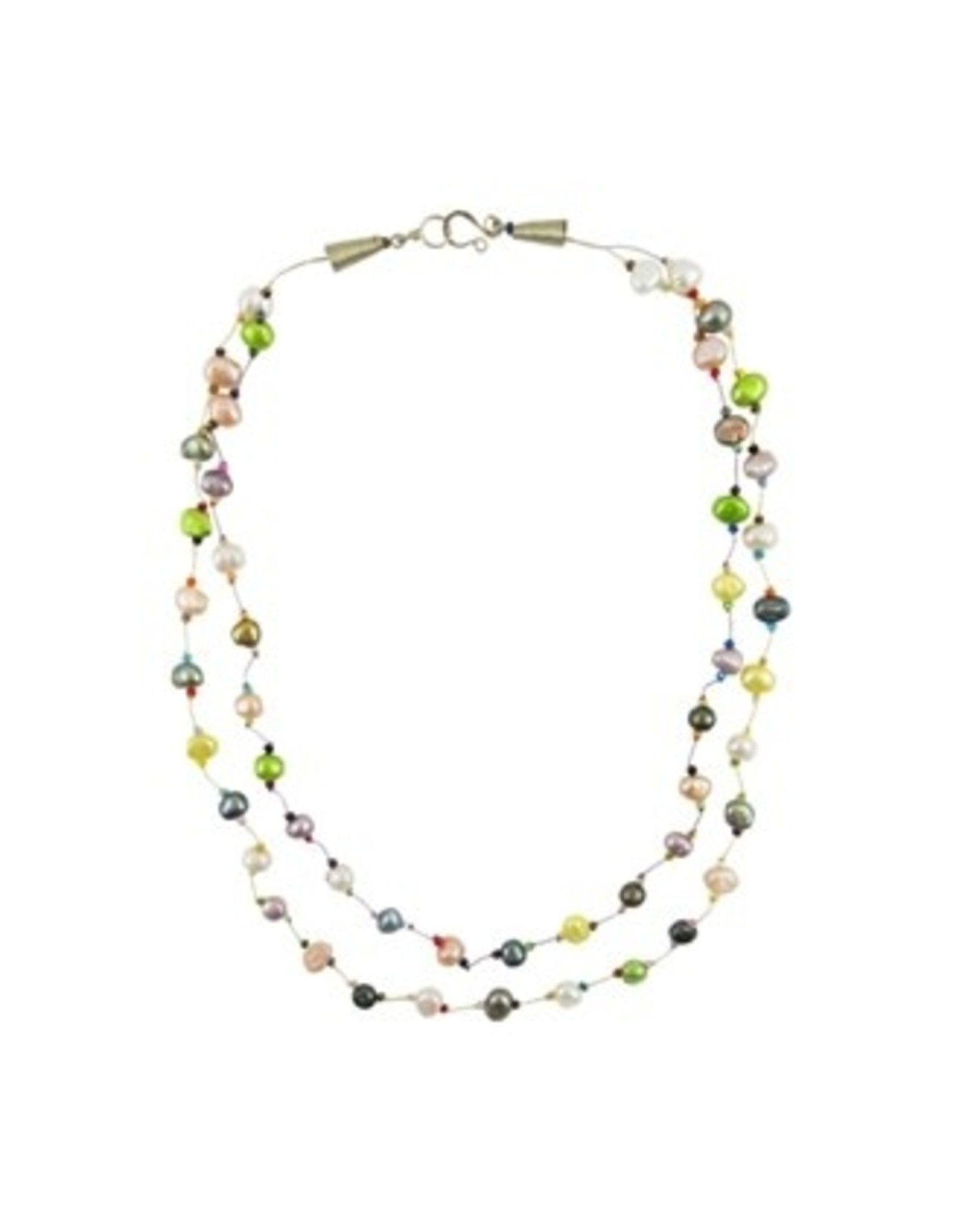 Layered Pearl Circus Necklace, 2 strand