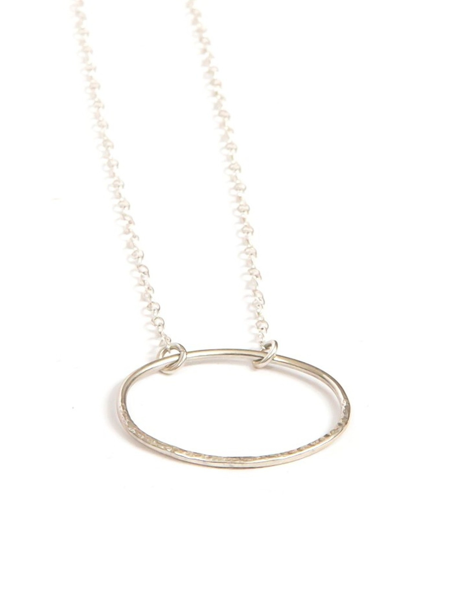 Sterling Oval Textured Necklace