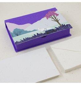 Boxed Stationary, Elephant Dark Purple