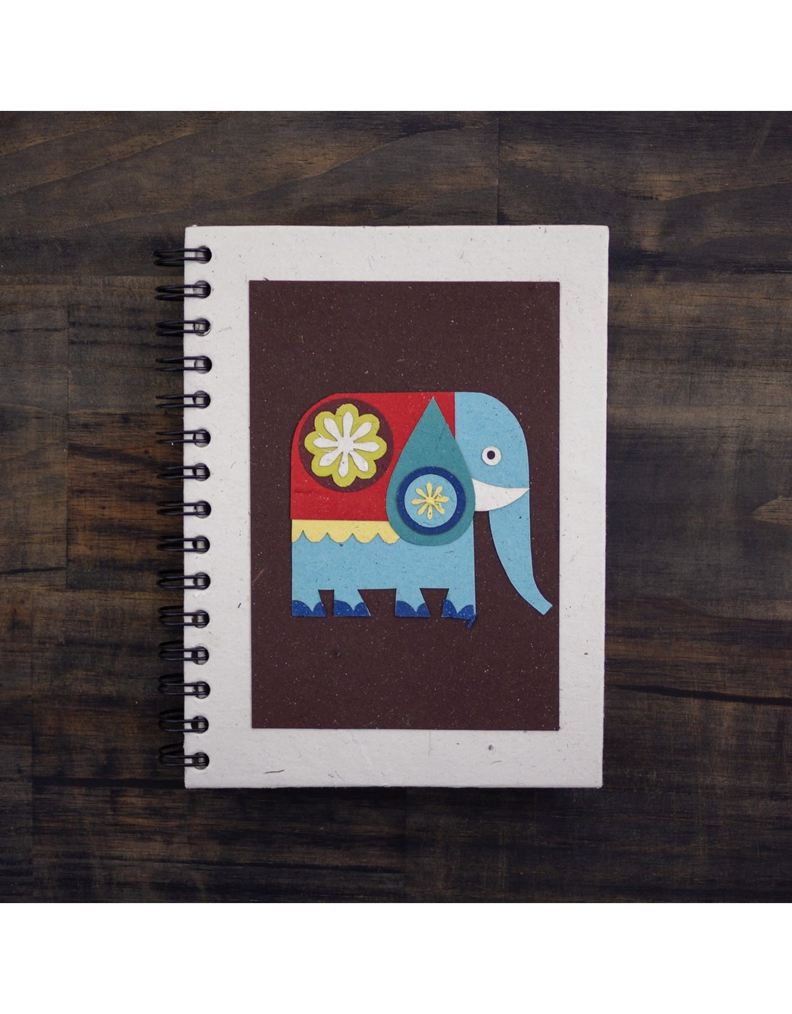 Large Notebook, Elephant on Brown, Sri Lanka