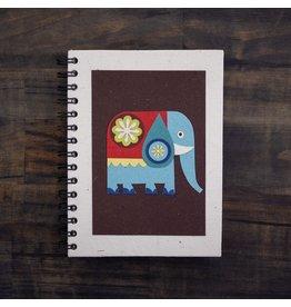 Large Notebook, Elephant on Brown, Sri Lanka