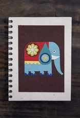 Large Notebook, Elephant on  Brown