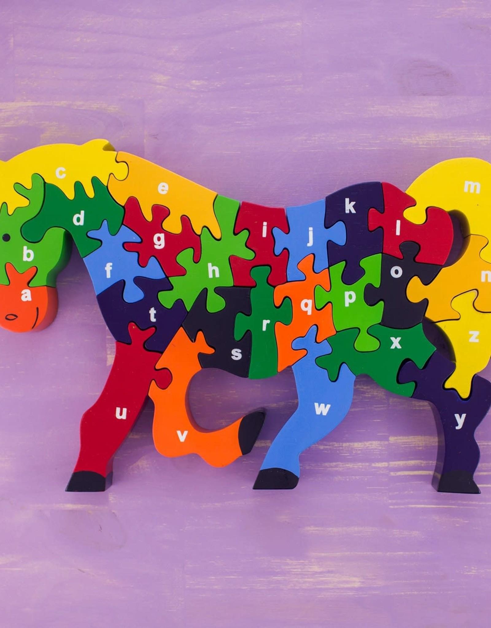 Wooden Alphabet  Puzzle Horse