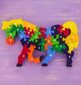 Wooden Puzzle Horse