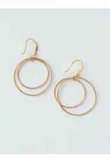 Double Moon Earrings Gold