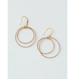 Double Moon Earrings Gold