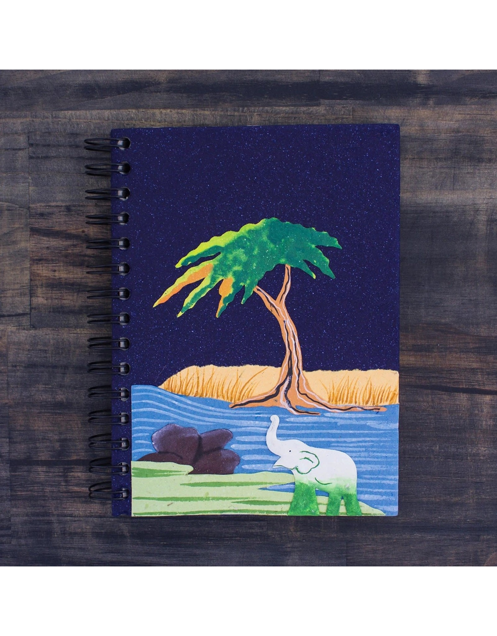 Large Notebook, Elephant on Midnight, Sri Lanka