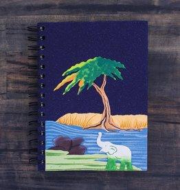 Large Notebook, Elephant on Midnight