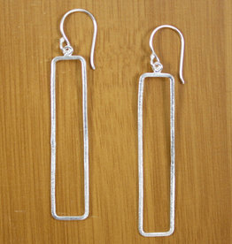 Sterling Framed Rectangle Earrings