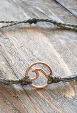 ROSE GOLD WAVE Bracelet, GRAY